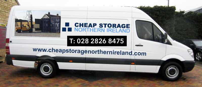 Cheap Storage NI van fits inside one of our secure steel containers