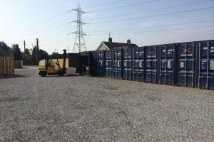 Self-storage containers large yard