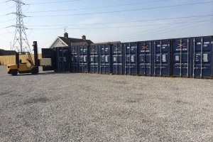 Self-storage containers yard near Dungannon