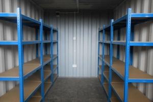 Storage shelves available within our self-storage containers  Coalisland.